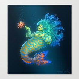 Mandarin Mermaid Canvas Print