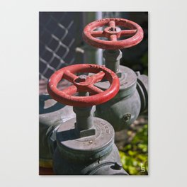Red Valves Canvas Print