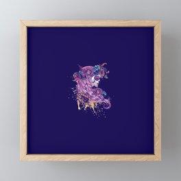 Purple sugar skull Framed Mini Art Print