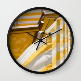 Yellow Summer Wall Clock