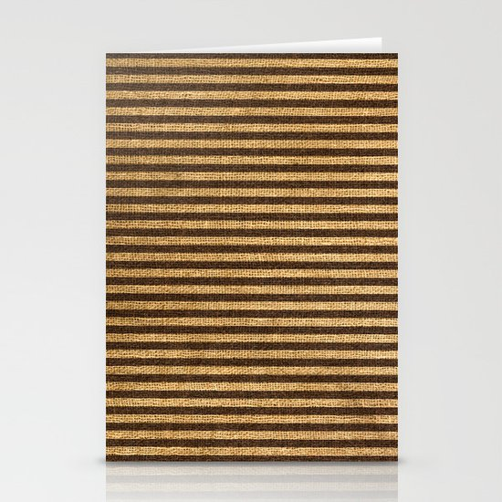 Striped Burlap Stationery Cards