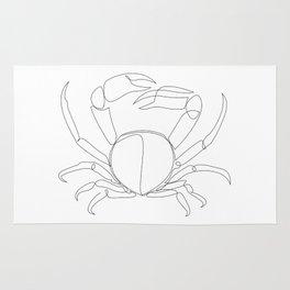 crab - one line art Rug