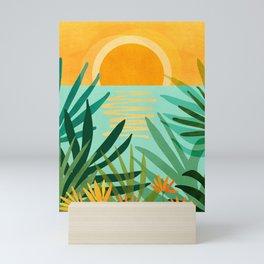 Peaceful Tropics / Sunset Landscape Mini Art Print