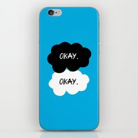 tfios iPhone & iPod Skins featuring Okay? Okay. TFIOS by PAJAMA