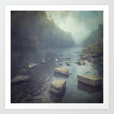 Stones in A River Art Print