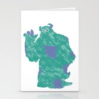 monster inc Stationery Cards featuring MONSTER INC. : SULLEY by DrakenStuff+