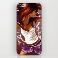 dancing iPhone & iPod Skins featuring Dancing by Lina Caro Design