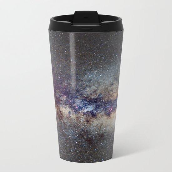 The Milky Way: from Scorpio, Antares and Sagitarius to Scutum and Cygnus Metal Travel Mug