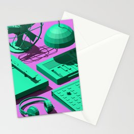 Low Poly Studio Objects 3D Illustration Stationery Cards