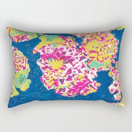 The soul becomes dyed with the color of its thoughts #floral #graphicdesign Rectangular Pillow