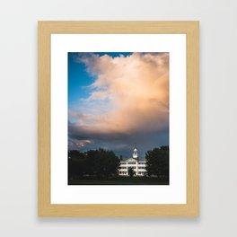 Summer Storms over Dartmouth Framed Art Print