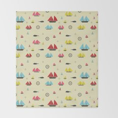 Boats Throw Blanket