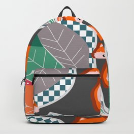 Summer fun with foxes and leaves Backpack