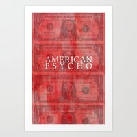 american psycho Art Prints featuring American Psycho by Robert Payton