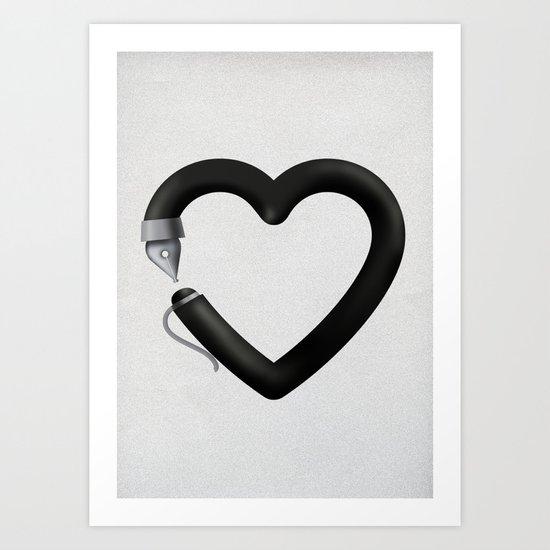 Love to write Art Print