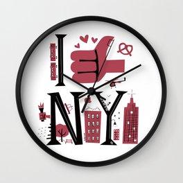 I love & thumbs up NY Wall Clock