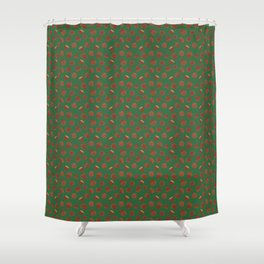 Acorns on Green Shower Curtain