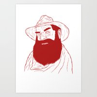 cowboy Art Prints featuring Cowboy by David Penela