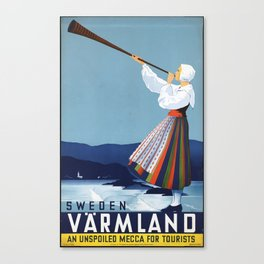 Sweden Varmland An Unspoiled Mecca For Tourists Canvas Print