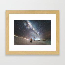 Lift me up to the stars Framed Art Print