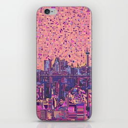 san antonio city skyline abstract 5 iPhone Skin