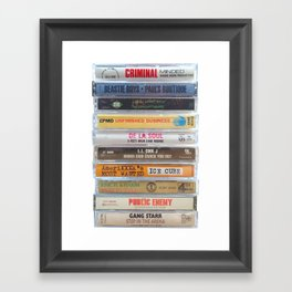 Hip Hip Cassettes Framed Art Print