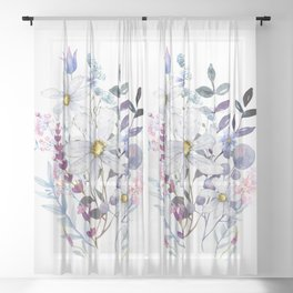 Wildflowers V Sheer Curtain