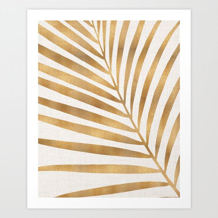 Metallic Gold Palm Leaf Kunstdrucke
