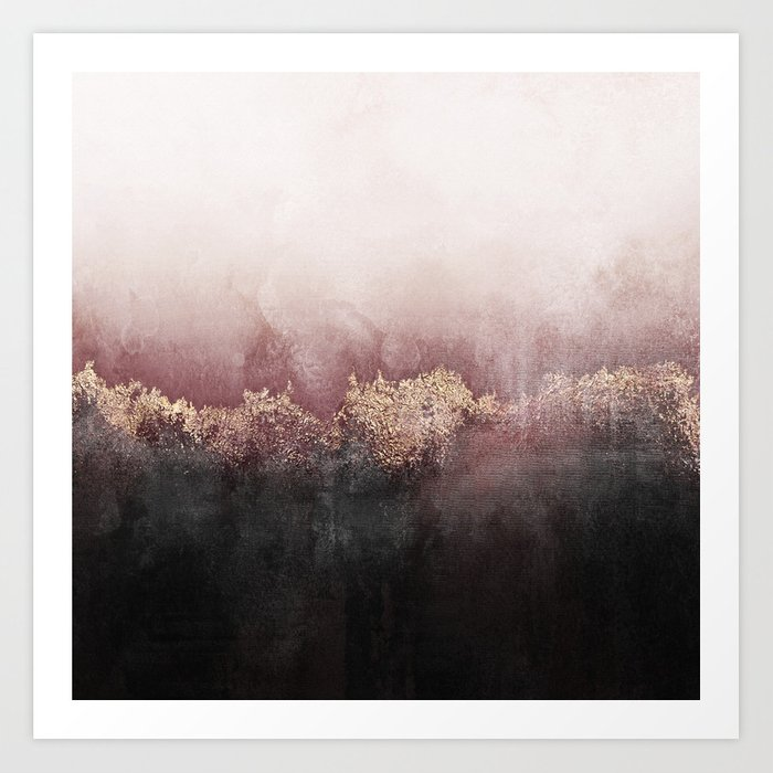 Pink Sky Art Print By Elisabethfredriksson Society6
