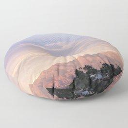 Sunset over Saddleback Mountain Floor Pillow