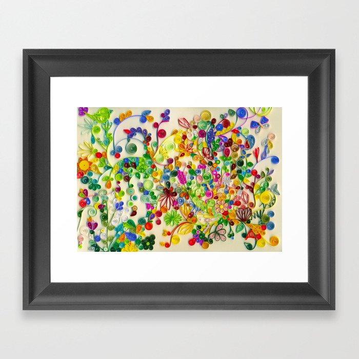 My little garden Framed Art Print