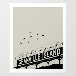 Granville Flock - Graphic Birds Series, Plain - Modern Home Decor Art Print