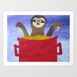 Sloth in a Broth Art Print
