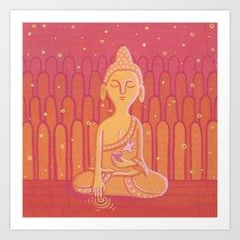 Buddha E Art Print