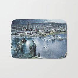 Earth Falls Away Bath Mat