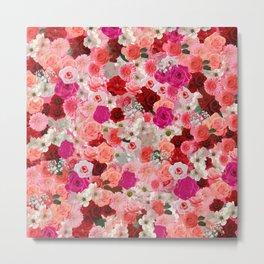 pink floral pattern Metal Print