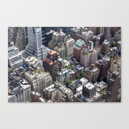 Roofs of New York. Canvas Print