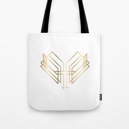 Art Deco Heart Tote Bag