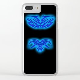 Blue Tribals Clear iPhone Case