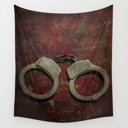 Rusty handcuffs Wall Tapestry