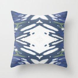 Navy Nautical Diamond Pattern Throw Pillow