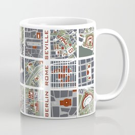 Urban fragments I of‪ NewYork‬, ‎Paris‬, London‬, Berlin‬, Rome‬ and Seville Coffee Mug