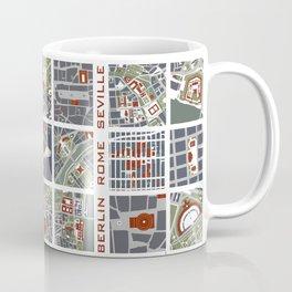 Urban fragments I of NewYork, Paris, London, Berlin, Rome and Seville Coffee Mug