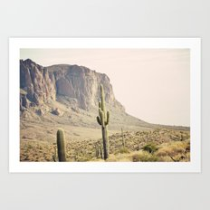 Superstitious Mountain Art Print