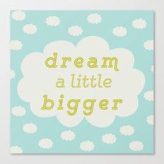 Dream bigger mint Canvas Print
