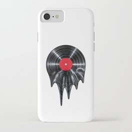 Melting vinyl / 3D render of vinyl record melting iPhone Case