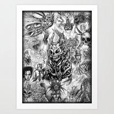 Sketch Compilation Art Print