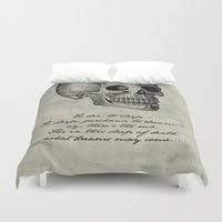 shakespeare Duvet Covers featuring Hamlet - Shakespeare by pithyPENNY