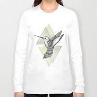 hummingbird Long Sleeve T-shirts featuring Hummingbird by Barlena