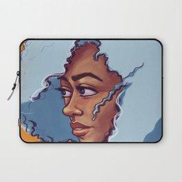 Blue Haired Bombshell Laptop Sleeve
